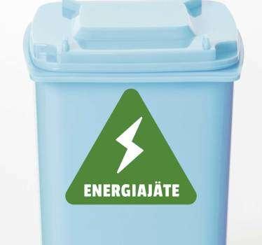 Kierrätetään energian kotiseinän tarra