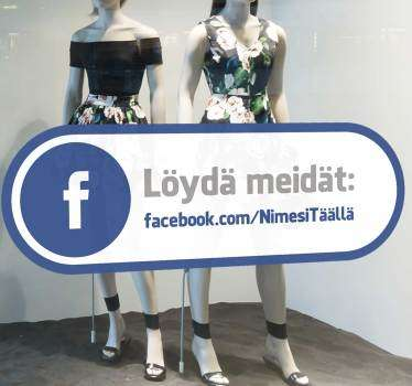 Volg ons op facebook-ikkunan tarra