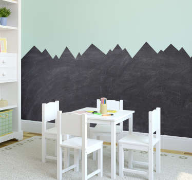A nice chalkboard sticker for your children's room. Decorate your boring rooms and walls with our fun chalkboard mountain stickers!