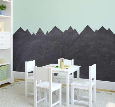 Kara tahta dağ şekli ev duvar sticker