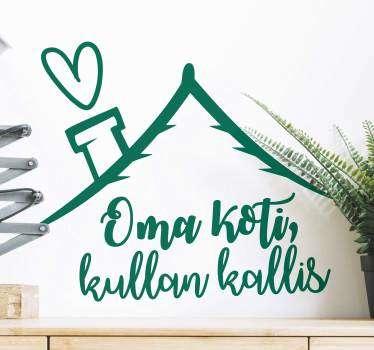 Kotiin makea koti olohuone seinä sisustus