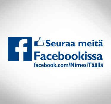 Facebook-liiketoiminnan ikkunan tarra