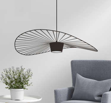 A beautiful object wall sticker with the design of a vertigo lamp. Available in different colour and size. Easy to apply.