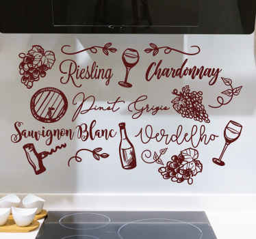 This fabulous kinds of wine drink sticker is perfect for your house if you want to improve incredibly all your house decor.