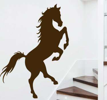 Sticker Mural Entrée Silhouette cheval