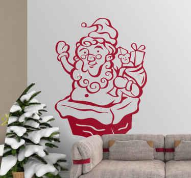 Sticker decorativo Babbo Natale regali 4