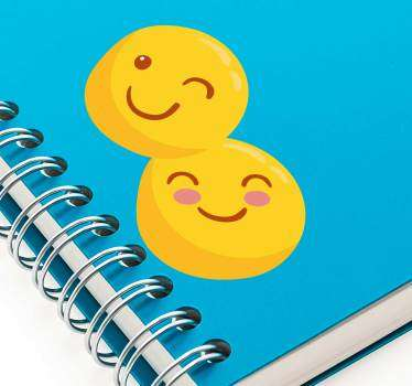 Stickers Dessin Smileys rigolos