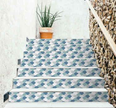 Disegno per scale a scaglie azzurre.