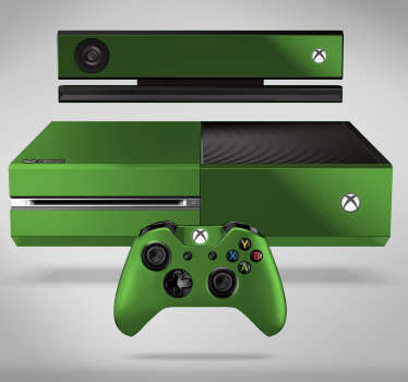 Xbox sticker to decorate a video game console in a flat colour style. Choose it in any of the available colours. Easy to apply.