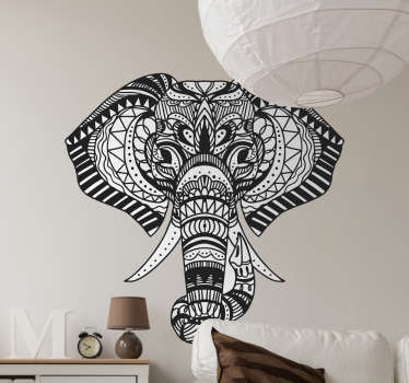 Sticker Maison éléphant tribal