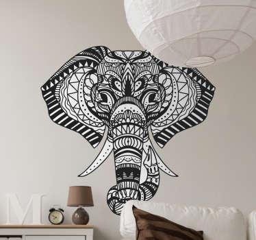 Naklejka z rysunkiem Wzorzysty słoń