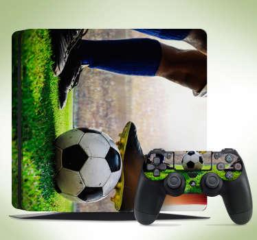 Piłkarska naklejka na PS4