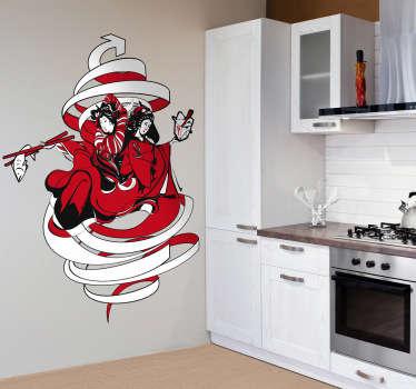 Japanese Food Theme Wall Sticker