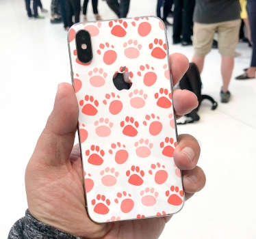 Don't leave the surface of the iPhone you have plain and looking boring. Buy our decorative dog footprints vinyl sticker to wrap it.