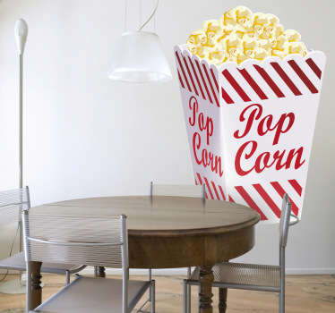Popcorn Illustration Wall Sticker