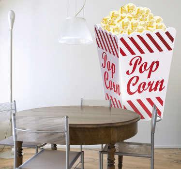 Popcorn Illustration Wall Sticker