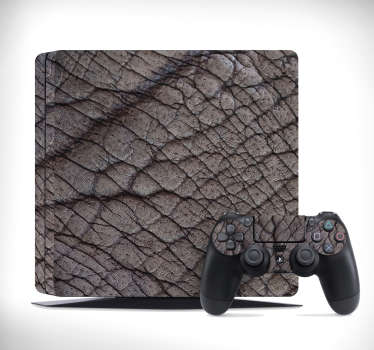 Decorate the surface of your PlayStation console with this amazing elephant skin texture vinyl skin wrap. Choose the model that fits with your device.
