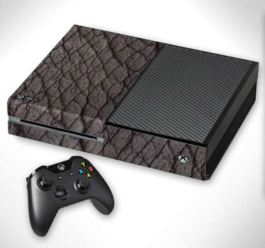 Elephant skin texture Xbox skin wrap to decorate the game console. Choose the best suitable size for the model of the device to apply the design.