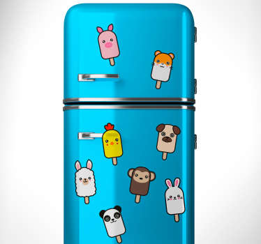 Popsicle Animal Wall Stickers
