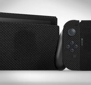 Carbon texture Nintendo skin wrap to decorate the surface of a game console. Buy it the best suitable model for your game console.