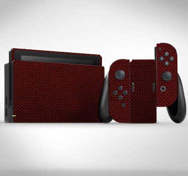 Lámina autoadhesiva para Nintendo formada por un estampado liso simulando textura de carbono en tono rojizo. +10.000 Opiniones satisfactorias.