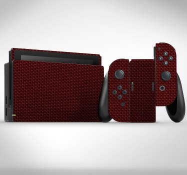 Vinilo Nintendo con textura carbono roja