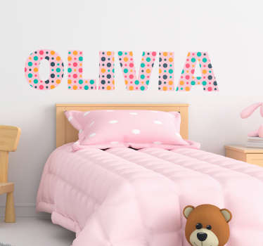 Personalize a name on this special text wall art sticker filled with colours of varieties. Choose the the desired size from the provided options.