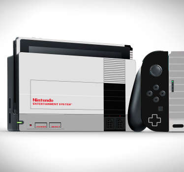 Nintendo vinyl wrap sticker to wrap with the design of a movie theme text. Buy it in the size model for your video game console.