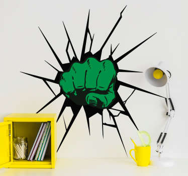 Hulk smash wall stickers for kid