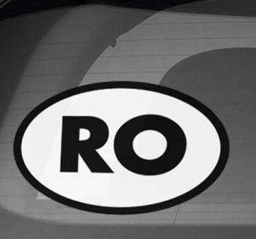 Ro pentru masina in autocolant romania