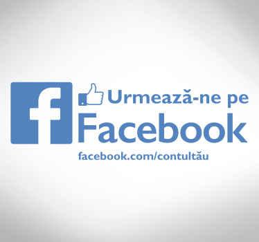 Urmați pe autocolantul facebook magazin