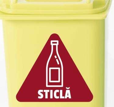 Autocolantul pentru sticle de reciclare pentru recipiente este o altă autocolantă eco-friendly care încurajează reciclarea. Reduceri disponibile.