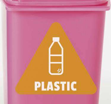 Sticla de plastic - semnul vinilului de reciclare
