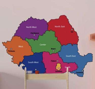 Harta autocolantului de pe harta lumii romaneasca