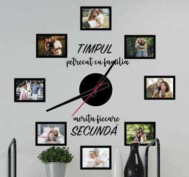 Timp cu autocolant ceas de perete de familie