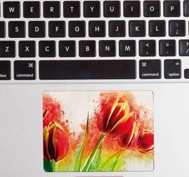 Flower Trackpad Laptop Sticker