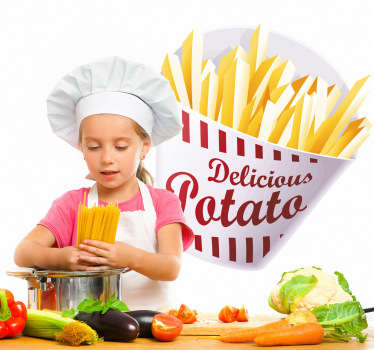 Sticker decorativo porzione patate fritte