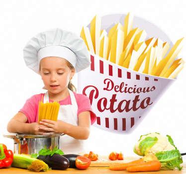 Sticker keuken pakje frieten