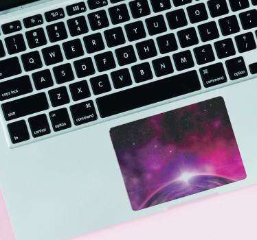 Get lost in space while surfing the internet with this amazing nebula laptop decal. Free worldwide delivery available now!