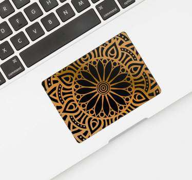 Stickers Dessin Mandala Couleur Or
