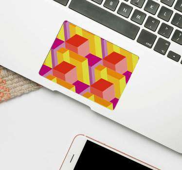 Is there a laptop in the world that wouldn't benefit from this incredible isometric pattern laptop sticker? Worldwide delivery available!