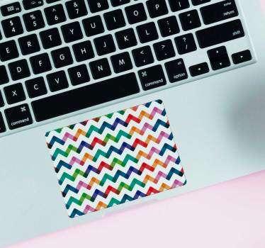 Naklejka na laptopa Zyg-zak na touchpad