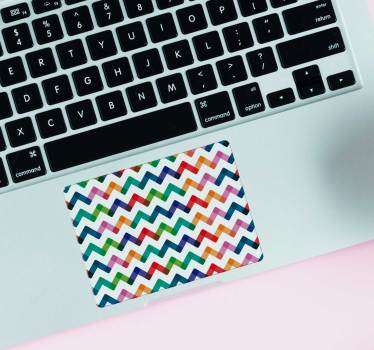 Rainbow Zigzag Trackpad Laptop Sticker