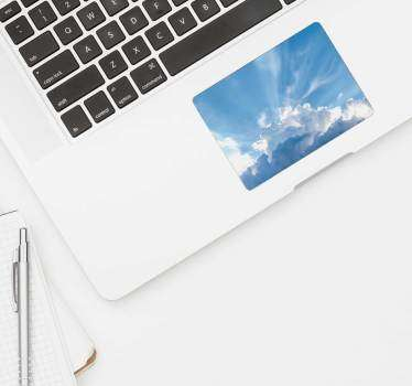 Blue Skies Trackpad texture sticker
