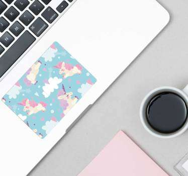 Cartoon Unicorn Trackpad texture sticker
