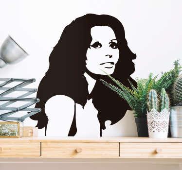 Vinilo pared Sophia Loren