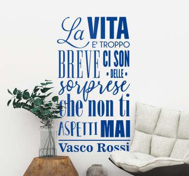 Adesivo murale canzone Vasco Rossi