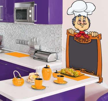 Sticker keuken kok menu