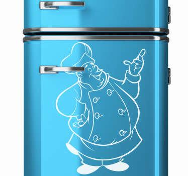 Stencil frigo chef paffuto monocromatico