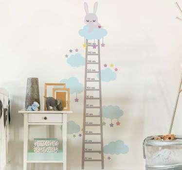 Rabbit  height chart wall sticker